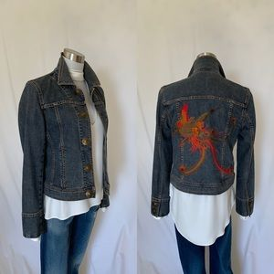 DKNY embroidered denim jacket